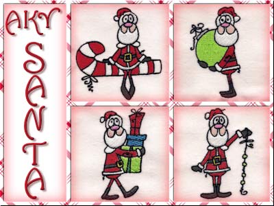 A Kids View of Santa Embroidery Machine Designs