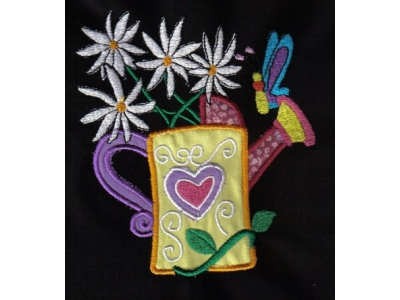 Applique Water Cans Embroidery Machine Designs