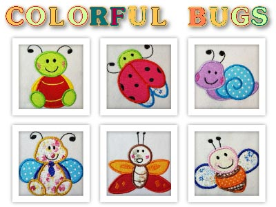 Applique Quilting Bugs Embroidery Machine Designs