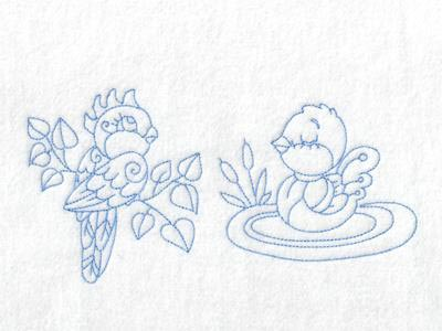 Baby Birds Embroidery Machine Designs