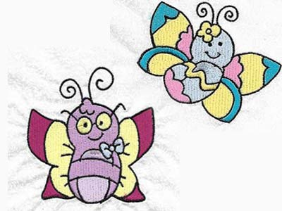 Baby Butterflies Embroidery Machine Designs