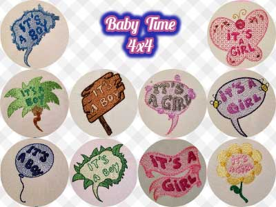 Baby Time 4x4 Embroidery Machine Designs