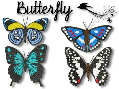 Beautiful Butterflies 2 Embroidery Machine Designs