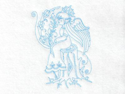 Beautiful Realistic Angels Embroidery Machine Designs