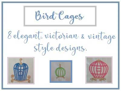 Birdcages Embroidery Machine Designs