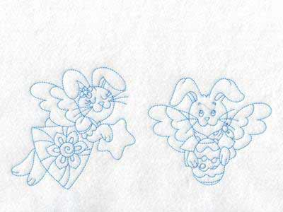 Bunny Angels Embroidery Machine Designs