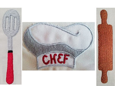 Chef Embroidery Machine Designs