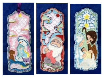 Christmas Bookmarkers Embroidery Machine Designs