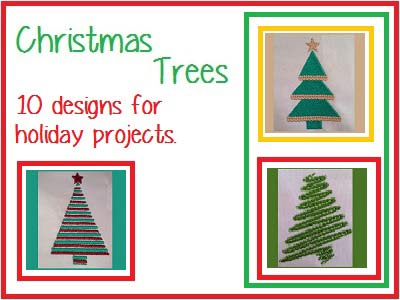 Christmas Trees Embroidery Machine Designs