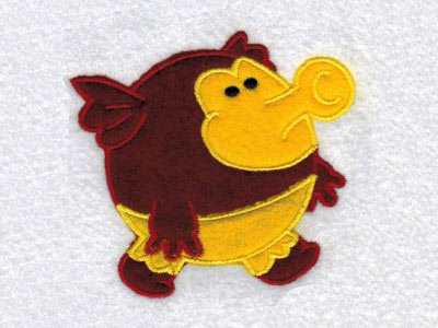 Chubby Applique Monsters Embroidery Machine Designs