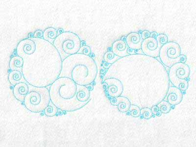Circle Backgrounds Embroidery Machine Designs