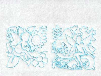 Continuous Line Fairy Blocks Embroidery Machine Designs