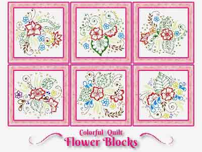 Colorful Flowers Embroidery Machine Designs