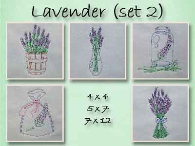 Colorline Lavender 2 Embroidery Machine Designs