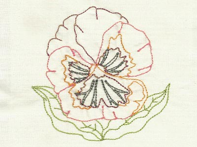 Colorline Pansies Embroidery Machine Designs