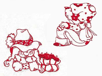 Country Sunbonnets Embroidery Machine Designs