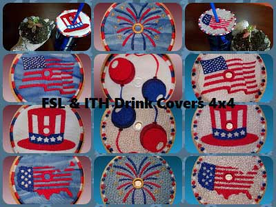 FSL and ITH Cup Covers Embroidery Machine Designs