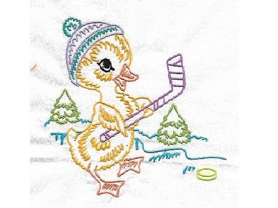 Cute Animals in Winter Embroidery Machine Designs