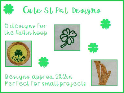 Cute St Patricks Designs Embroidery Machine Designs