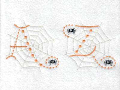 Cute Candlewick Spider Alphabet Embroidery Machine Designs