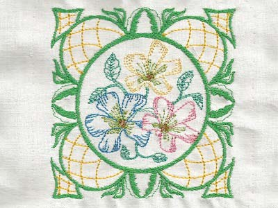 Elegant Flower Blocks Embroidery Machine Designs