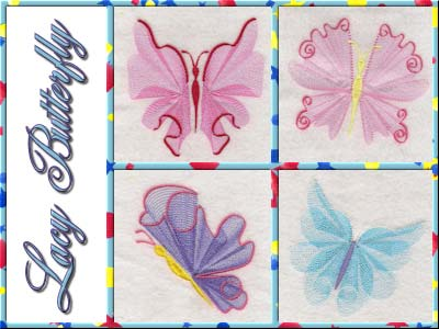 Elegant Lacy Butterflies Embroidery Machine Designs