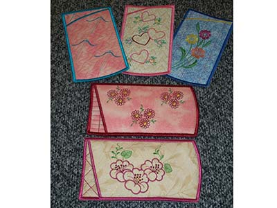 Eyeglass Cases Embroidery Machine Designs