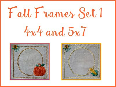 Fall Frames 1 Embroidery Machine Designs