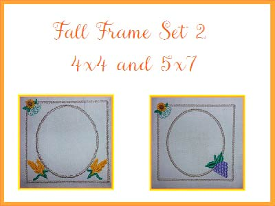 Fall Frames 2 Embroidery Machine Designs