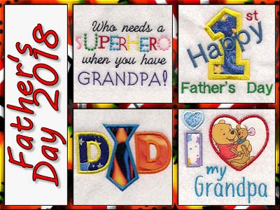 Fathers Day 2018 Embroidery Machine Designs