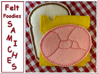 Felt Foodies Samiches Embroidery Machine Designs