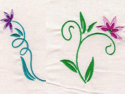 Floral Art Nouveau Embroidery Machine Designs