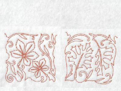 Free Motion Fall Leaves Blocks Embroidery Machine Designs