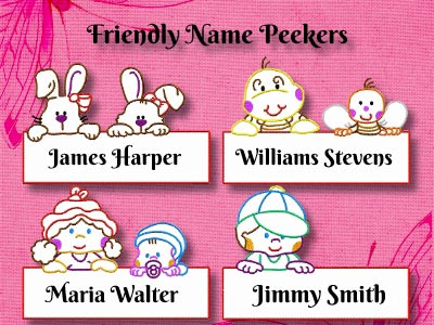 Friendly Name Peekers Embroidery Machine Designs