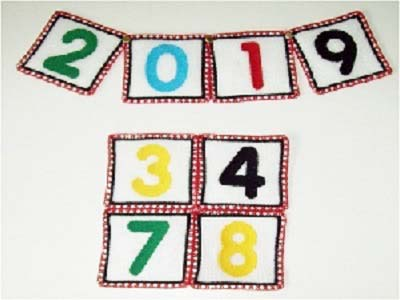 FSL Block Numbers Embroidery Machine Designs