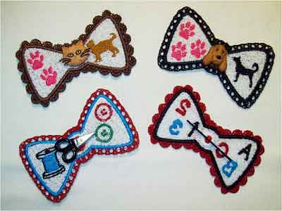 FSL Button Bows Embroidery Machine Designs