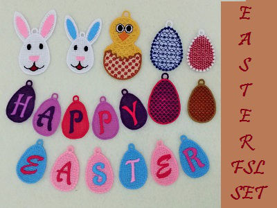 FSL Easter 2 Embroidery Machine Designs