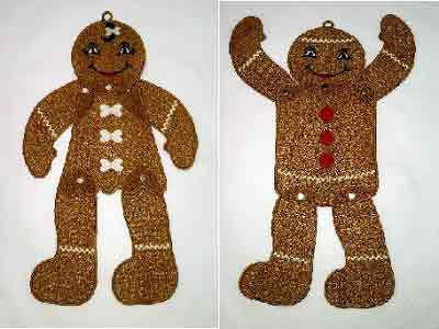 FSL Posable Gingerbread Danglers Embroidery Machine Designs