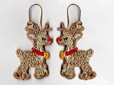 Free Standing Lace Mylar Holiday Earrings v2 Embroidery Machine Designs