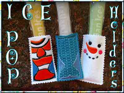Ice Pop Holders Embroidery Machine Designs