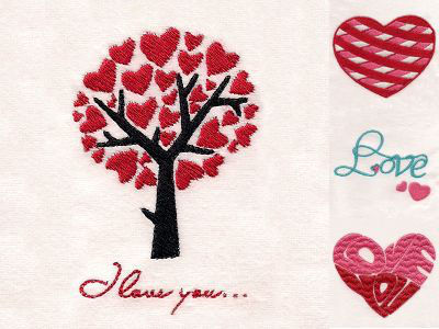 I Heart You Embroidery Machine Designs