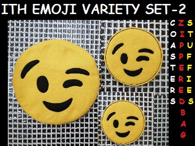 In The Hoop EMOJI 2 Embroidery Machine Designs
