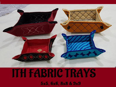 ITH Fabric Trays Embroidery Machine Designs