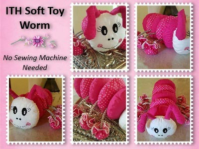 In The Hoop Soft Toy Worm Embroidery Machine Designs