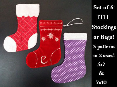 ITH Stockings and Bags Embroidery Machine Designs