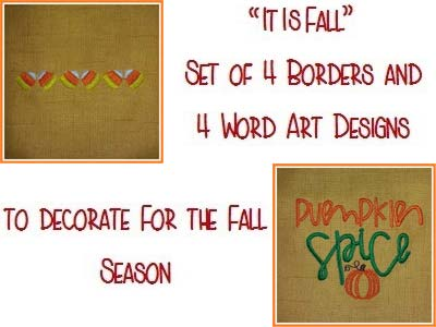 It Is Fall Embroidery Machine Designs