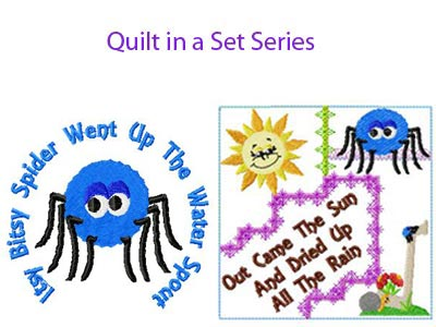 Itsy Bitsy Spider Embroidery Machine Designs