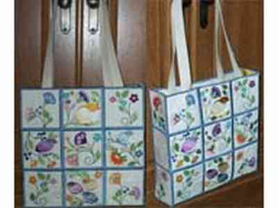 Jacobean Tote Bag Embroidery Machine Designs
