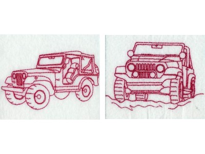 RW Jeeps Embroidery Machine Designs