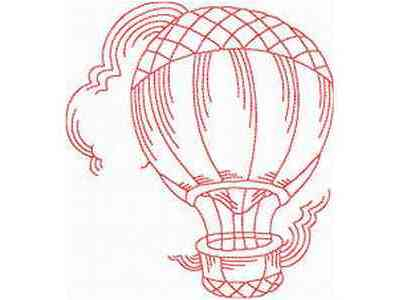 JN Hot Air Balloons Embroidery Machine Designs